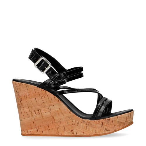 Sacha leren sandalettes zwart