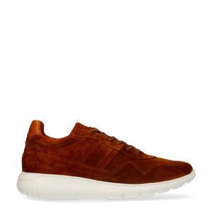 suède sneakers cognac