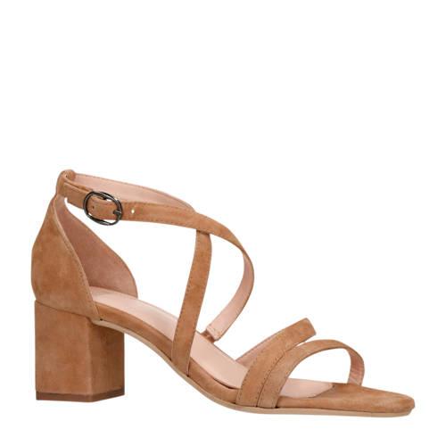 Manfield su??de sandalettes beige