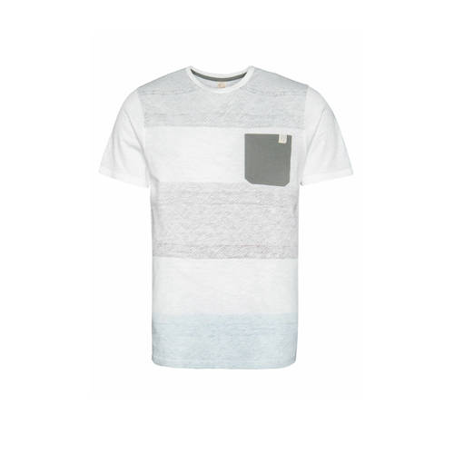 Protest gestreept T-shirt wit