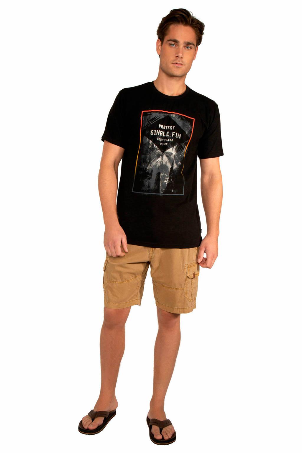 Protest T-shirt zwart, True black