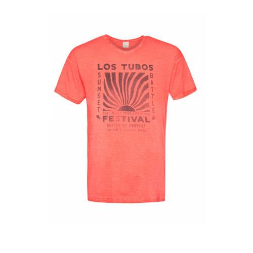 Protest T-shirt met printopdruk roze