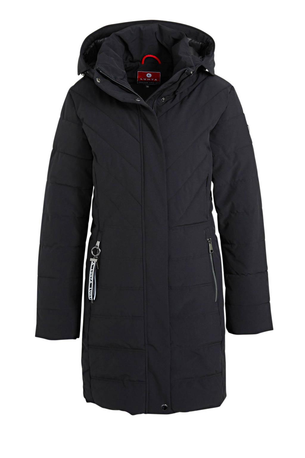 Luhta gewatteerde jas Haavus zwart, Zwart