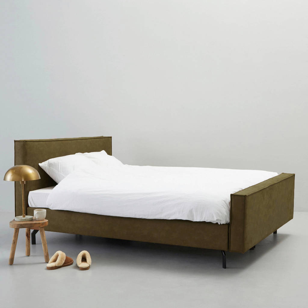 whkmp's own complete boxspring Detroit (180x210 cm), Groen