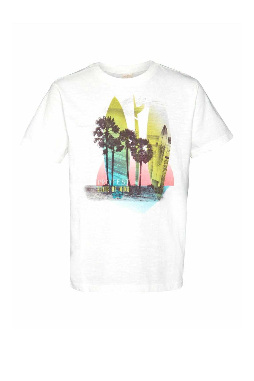 Protest T-shirt Rik wit, Seashell
