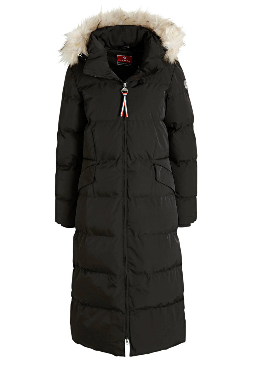 Luhta gewatteerde jas Eriksdal zwart, Zwart