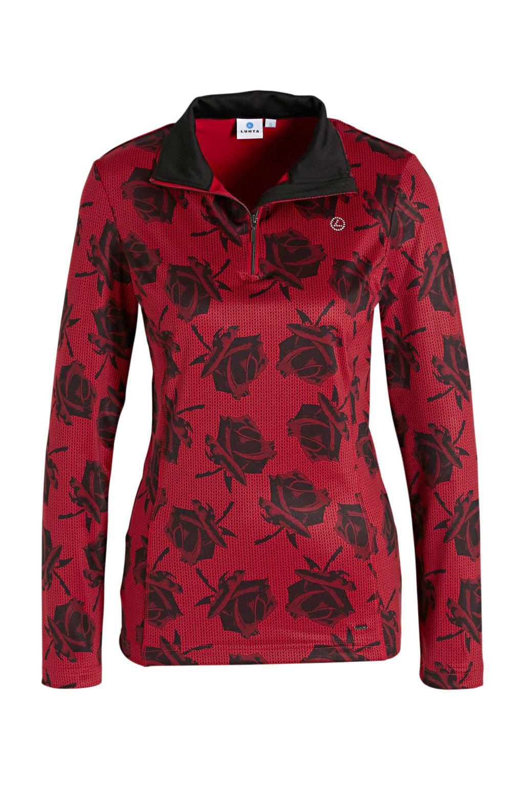 Luhta skipully Estby rood/zwart, Rood/zwart