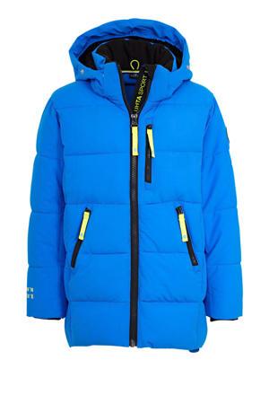 gewatteerde winterjas Laapio Jr. blauw
