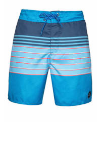 Protest gestreepte boardshort Tano blauw/lichtblauw, Ground Blue