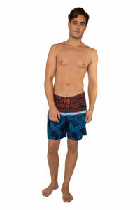 Protest boardshort Firsby blauw/rood, Neon pink