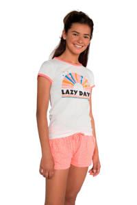 Protest regular fit T-shirt Noma met printopdruk wit, Seashell