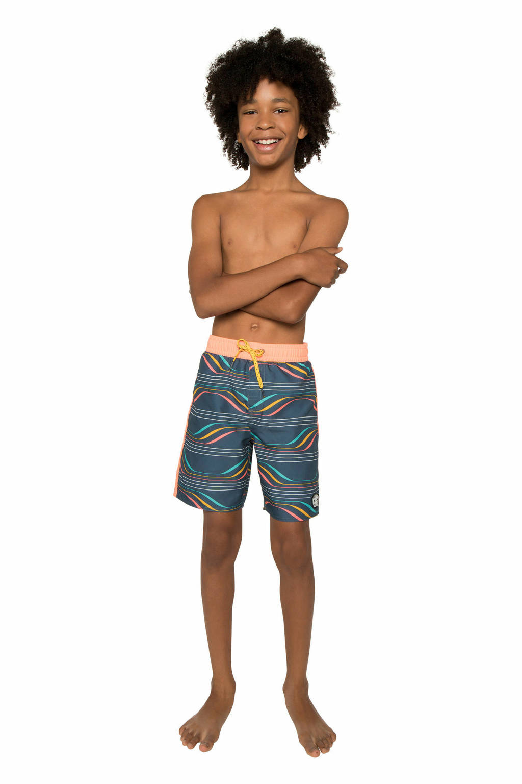 Protest zwemshort Zeno JR blauw, Empire Blue