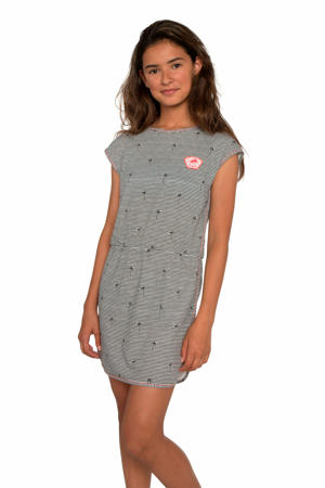 T-shirtjurk Franne met all over print grijs