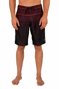Protest boardshort Spender zwart/rood, Dark Cherry