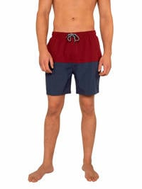Protest zwemshort Texas rood, Red Sangria