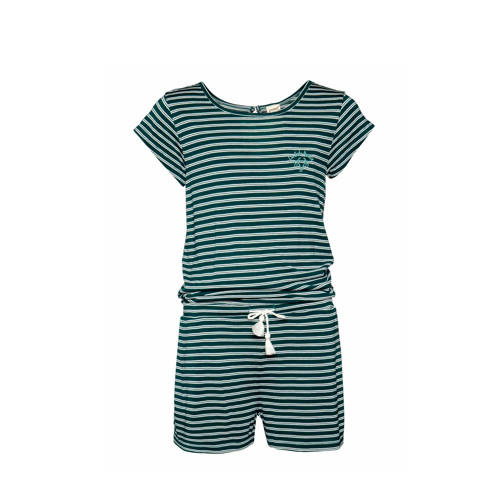 Protest playsuit Merlin groen-wit
