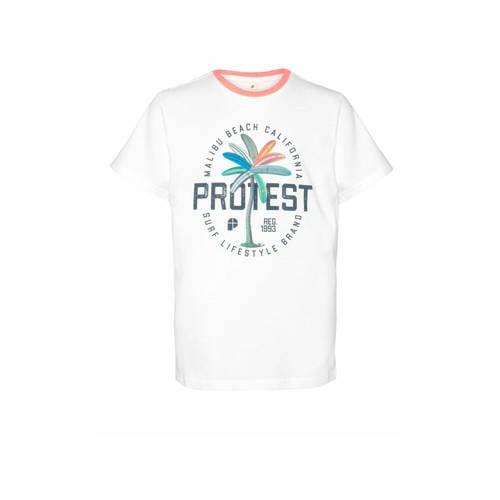 Protest T-shirt Linus wit
