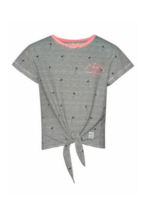 regular fit T-shirt Kikka met all over print zwart