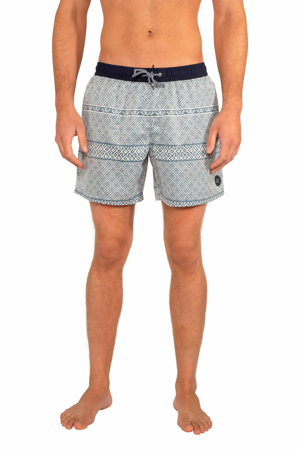 Protest zwemshort Holt met all over print blauw, Empire Blue
