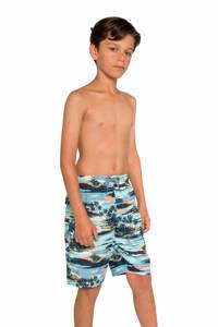 Protest zwemshort Conner met all over print groen, Ocean Breeze