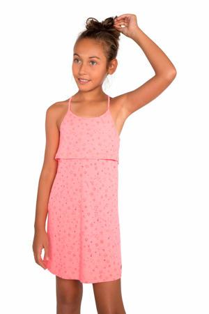 jersey jurk Dalia met sterren roze