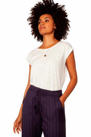 regular fit broek Noni met jacquard donkerblauw