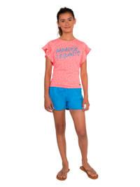 Protest regular fit T-shirt Olive met sterren roze, Grenadine