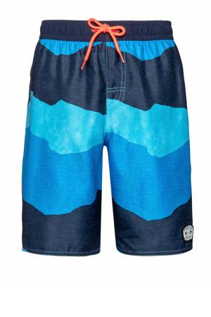 zwemshort Caleb JR lichtblauw/marine