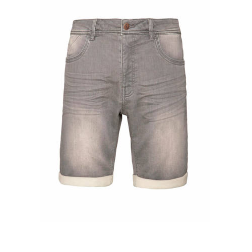 Protest regular fit jeans short Carat grey denim