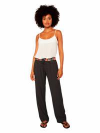 Protest regular fit broek Macadamia met all over print zwart/wit, True black