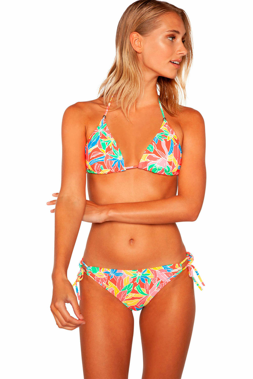 Protest triangel bikini Mystical met all over print roze, Parakeet