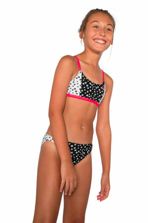 crop bikini Clair JR zwart/wit