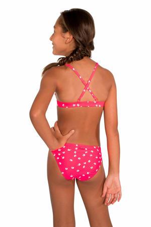 bikini Annelene roze/wit