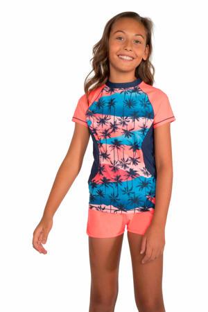 UV shirt Lela JR blauw/roze