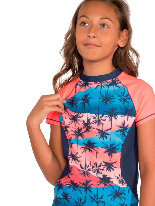 Protest UV shirt Lela JR blauw/roze, Fiji