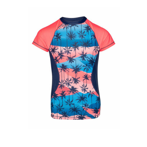 Protest UV shirt Lela JR blauw/roze