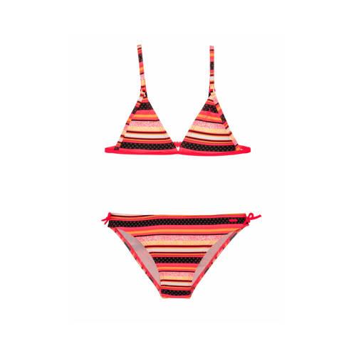Protest gestreepte triangel bikini Malou JR roze/g