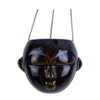 pt, plantenhanger Mask, Donkerbruin, 15,2