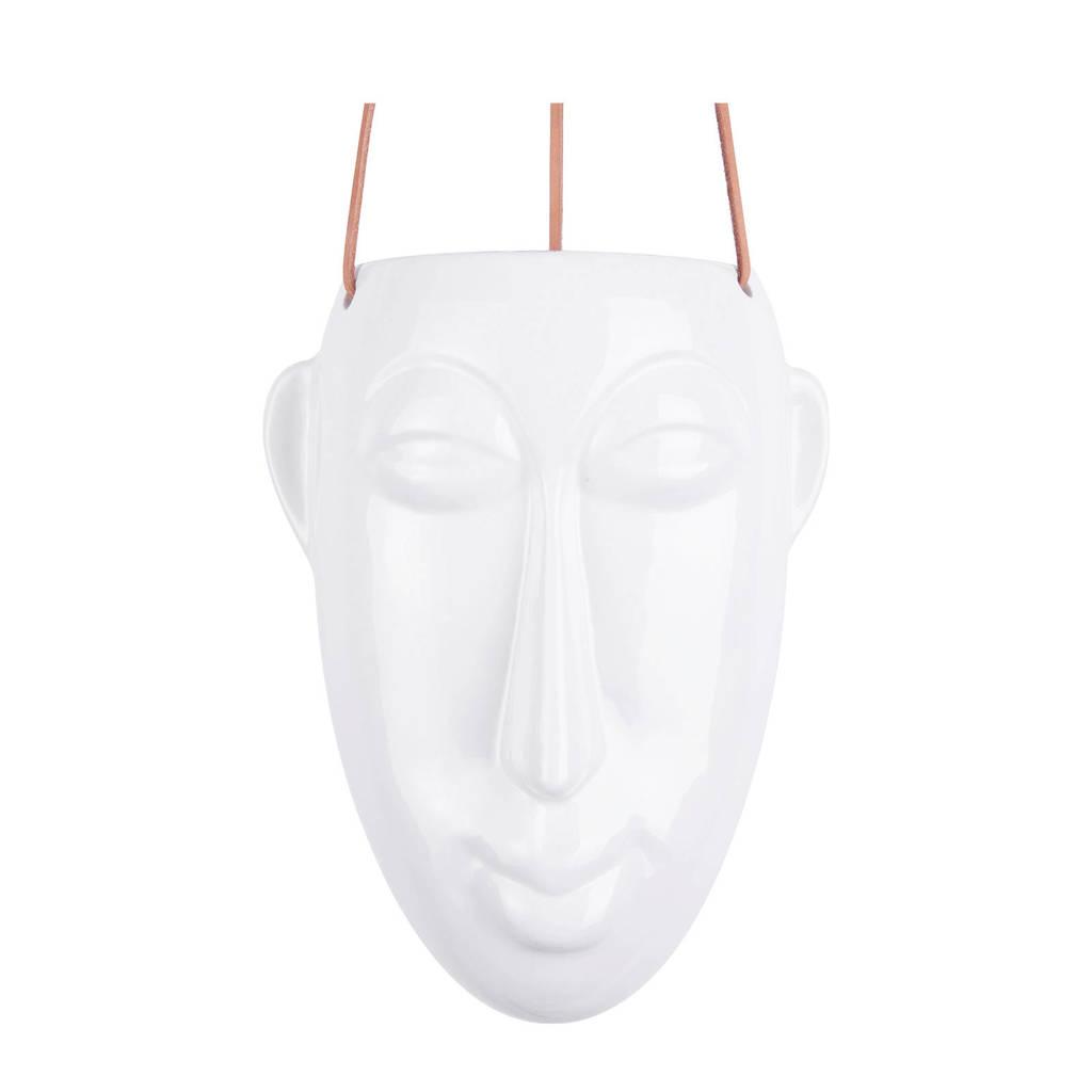 pt, plantenhanger Mask, Wit, 22,3