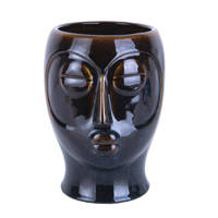 pt, bloempot Mask, Donkerbruin, 22,2