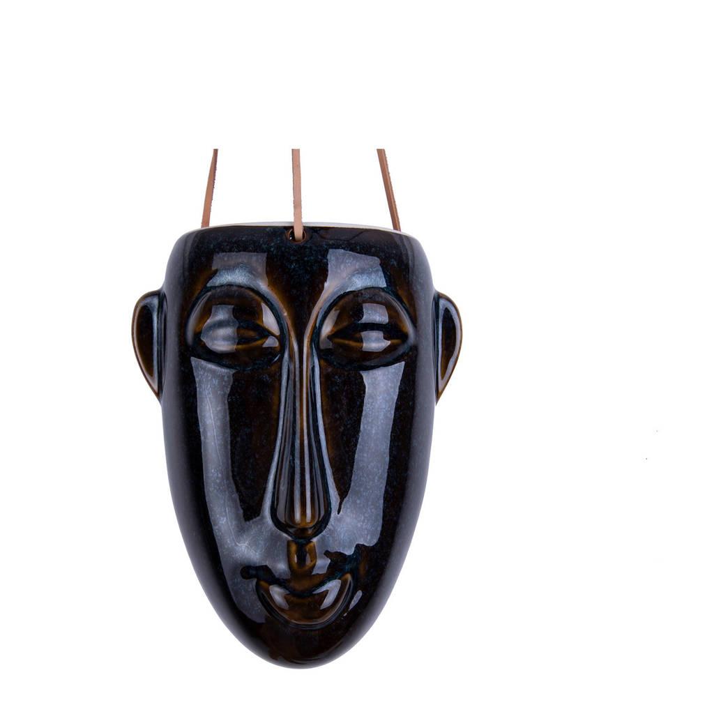 pt, plantenhanger Mask, Donkerbruin, 22,3
