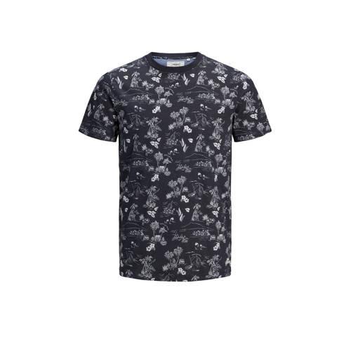PRODUKT T-shirt met all over print marine