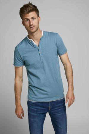 T-shirt blauw/grijs/wit