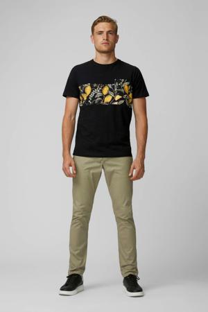 T-shirt met printopdruk zwart/geel