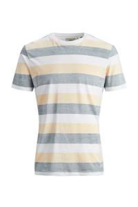 PRODUKT gestreept T-shirt van biologisch katoen geel/wit, Geel/wit
