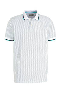 PRODUKT regular fit polo met all over print wit, Wit