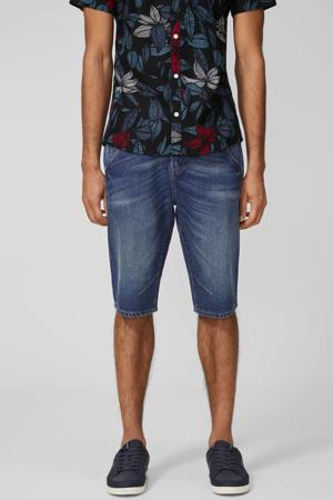 regular fit jeans short medium blue denim