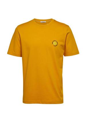 T-shirt okergeel