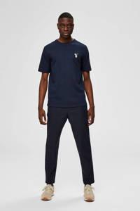 SELECTED HOMME T-shirt van biologisch katoen donkerblauw, Donkerblauw