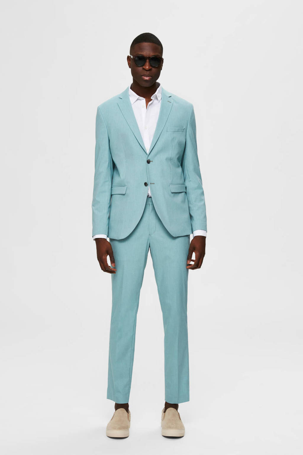 SELECTED HOMME slim fit colbert turquoise, Turquoise